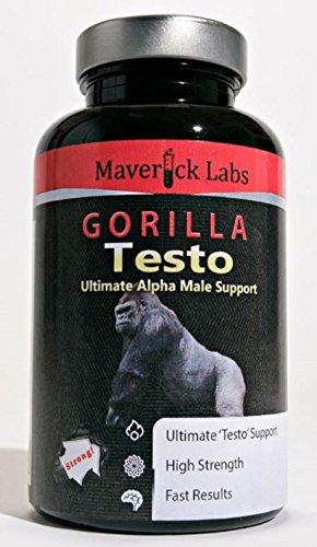 Maverick Gorilla Testo (Testosterone Booster) – Diventa Il Gorilla Alfa – per la Crescita dei Muscoli anabolici e Altro (Totalmente legale) – 90 Capsule