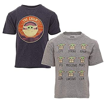 STAR WARS The Mandalorian Baby Yoda Toddler Boys 2 Pack T-Shirts Blue/White 4T