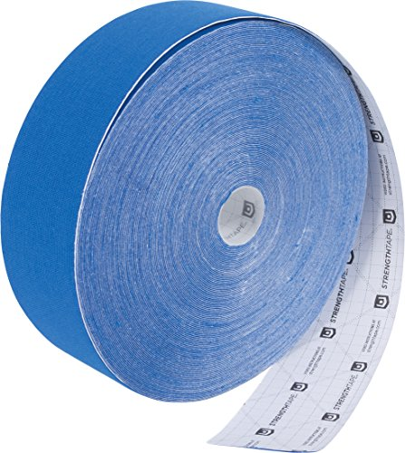 StrengthTape Kinesiology Tape, 35M K Tape Roll, Premium Sports Tape Provides Support and Stability to The Target Area, Royal Blue