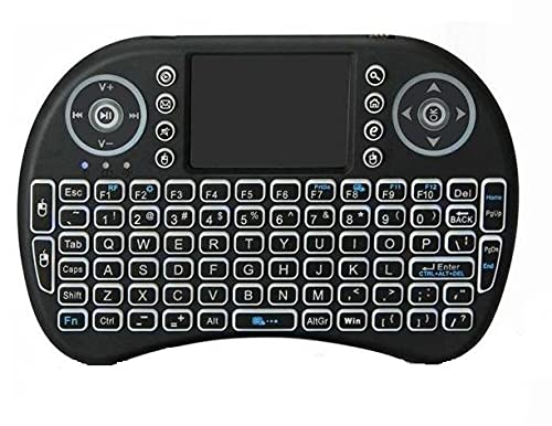 Heypex Portable Multi-Functional Mini Wireless Keyboard & Mouse Comes with Touchpad / Smart Function for Smart Tv, Android Tv Box, Raspberry-Pi, Android & iOS Devices (Black)