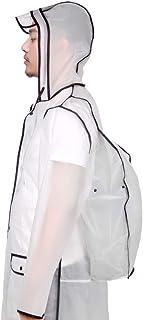 LGQ-HW 透明レインコート防水ライトレインジャケット再利用可能な防水フード付きジャケット旅行ポータブル包装女性の女の子のファッションレインコート (色 : ブラック, サイズ さいず : XL)