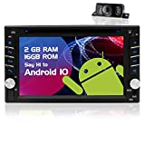 Double Din Android Car Stereo 6.2 inch Touch Screen Head Unit 2 Din