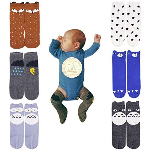 October Elf Unisex Baby Knee High Stockings Tube Socks 6 Pairs