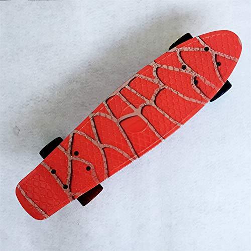 Xiaoludian Planche PP en Plastique PP Penny Small Fish Board Spider-Man Planche à roulettes Enfant Adulte