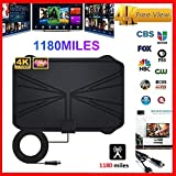 hinffinity TV Aeria 1180 Miles 4K Digital HDTV 2019 New Indoor TV Antenna With Amplifier Signal Booster TV...