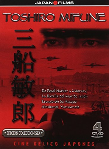 Toshiro Mifune Pack 4 DVD Escuadron de Ataque + La Batalla del Mar del Japón + Admiral Yamamoto + De Pearl Harbor a Midway