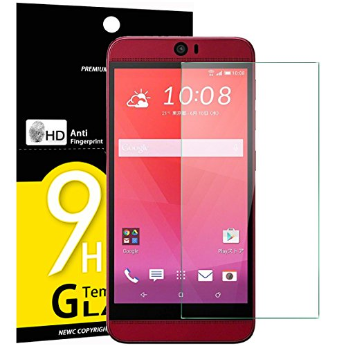 NEW'C PanzerglasFolie Schutzfolie für HTC Butterfly 3, Frei von Kratzern Fingabdrücken und Öl, 9H Härte, HD Displayschutzfolie, 0.33mm Ultra-klar, Displayschutzfolie