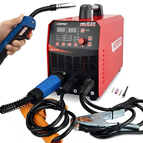220AMP MIG Welder MIG235 TIG MIG MAG MMA Stick DC 3 in 1 Welding Machine Gas Gasless Inverter Welder 110V 220V Dual Voltage Welding Equipment