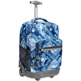 WEISHENGDA 18 inches Wheeled Rolling Backpack for Boys and Girls School Student Books Laptop Travel Trolley Bag, Blue