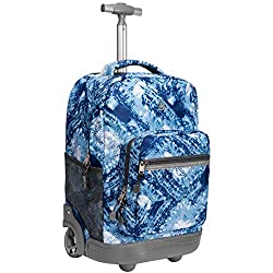 top rated WEISHENGDA 18 inch backpack with wheels for boys and girls, textbooks, laptops … 2021