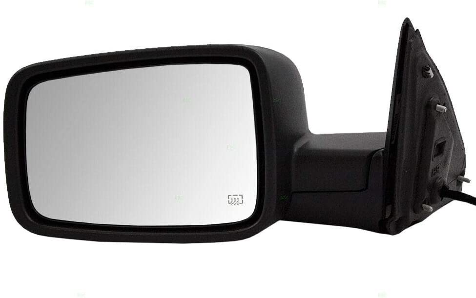 Drivers Power Side View Mirror Heated 1 year warranty RAM 6x9 13-18 Max 53% OFF Textured for