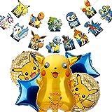 Cumpleaños Globo, Pikachu Globos, Helium Foil Balloons,Globos de,Pikachu Fiesta Globos,Pikachu Globos de Papel de Aluminio,Helium Foil Globos para Fiestas de cumpleaños