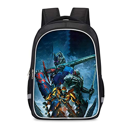 Transformers Mochila Impresa Modificación de Moda Daypack Popular Styles Bolsa de Viaje Adecuado para niños y niñas Bolso Escolar Elegante de la luz al Aire Libre. Niños