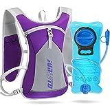 WACCET Mochila de Hidratación con 2L Bolsa de Agua Mochila Correr Ligera para Mujer y Hombre 6L Mochila Trail Running Respirable al Aire Libre para Ciclismo Maratón Senderismo Camping (Púrpura)