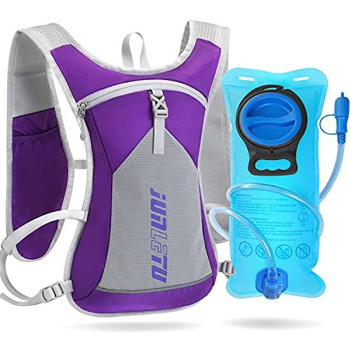 WACCET Mochila de Hidratación con 2L Bolsa de Agua Mochila Correr Ligera para Mujer y Hombre 6L Mochila Trail Running Respirable al Aire Libre para Ciclismo Maratón Senderismo Camping