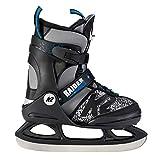 K2 Skate Boy's Raider Ice Skate, Gray Black, 4-8