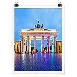 Poster Wanddekoration Erleuchtetes Brandenburger Tor