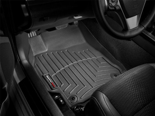 2008-2013 Chevrolet Silverado Crew Cab Black WeatherTech Floor Liner (Full Set) [1st Row Over Hump] :