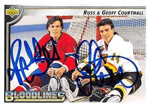 Autograph Warehouse 650593 Russ Courtnall Max 61% 5 popular OFF Autographed Geoff Ho