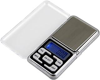 UEETEK Báscula de Bolsillo 0.01g/100g Mini Báscula Digital Escala Balanza de Precisión para Joyeria Drogas