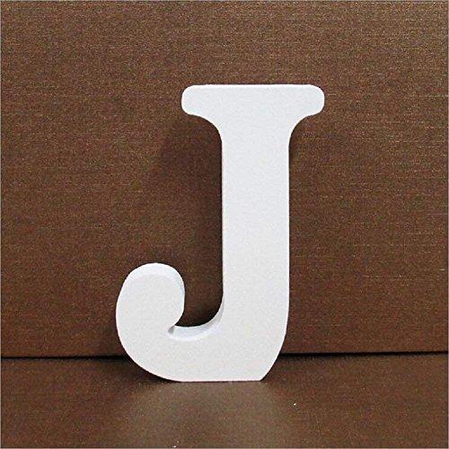 Gspirit Decorativo De Madera Letras, Pared Letras 26 Letras Madera Alfabeto para Niños Bebé Nombre Cumpleaños Fiesta Boda Casa Decoración (J)