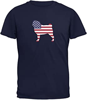Animal World 4th of July Patriotic Dog Beagle Navy Adult T-Shirt