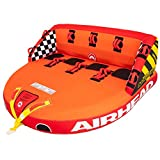 Airhead Great Big Mable | 1-4 Rider Towable Tube for Boating, Orange, Red, Yellow
