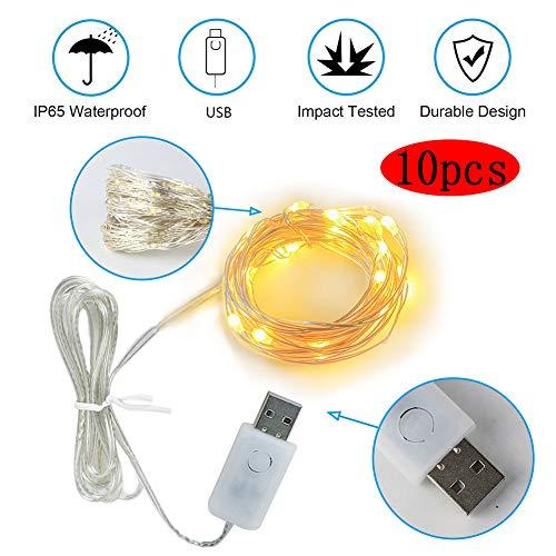 ZBHGF Fairy Tale String Decoratie Lichten 10 Meter 100 Lichten USB Aangedreven Gordijn String Lights 8 Soorten Warm Wit Knipperende Afstandsbediening Timing Functie Kerstverlichting