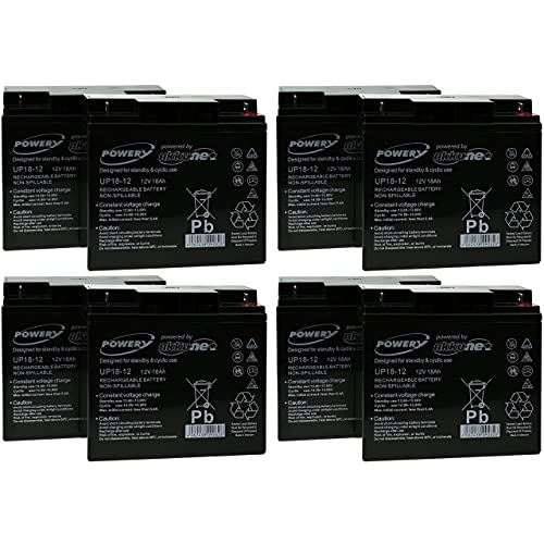 Powery Batería de Gel para SAI APC Smart-UPS 5000 Montaje en Rack/Torre