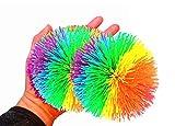 2Pcs 4.5Inch Large Rainbow Stringy Ball...