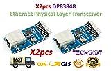 TECNOIOT 2pcs DP83848 Ethernet Physical Layer Transceiver RJ45 Control Interface Board Embedded Web Server RJ45 Module