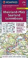 Rheinland-Pfalz - Saarland - Luxembourg 1:125 000: Grossraum-Radtourenkarte 1:125000, GPX-Daten zum Download