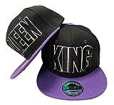 JameStyle26 - Juego de gorras de béisbol en diseño King & Queen King & Queen Lila Set Talla única