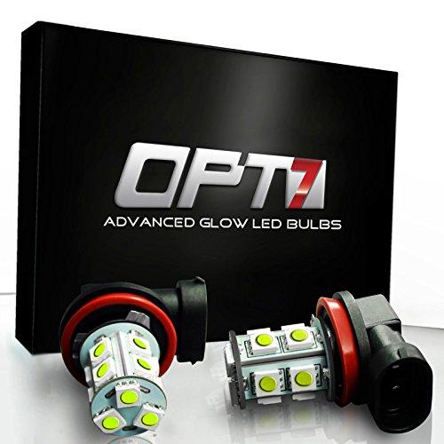 OPT7 Show Glow H10 LED Fog Light Bulbs - 13-SMD 10000K Deep Blue @ 190Lm per bulb - Plug-n-Play (Pack of 2)