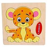 hunpta madera leopardo rompecabezas educativo de desarrollo bebés Niños entrenamiento juguete, a, 1