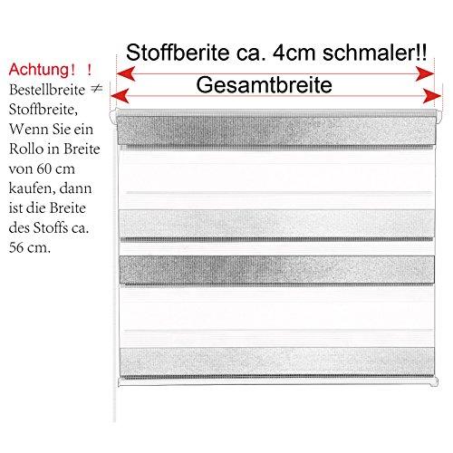 Doppelrollo Weiß Grau Anthrazit Bunt WOLTU - 6