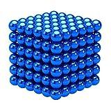 強力磁石 立体パズル おもちゃ 魔方 減圧 脳開発知恵玩具 パズル ボール ギフト プレゼント 216個セット 5mm (青い)