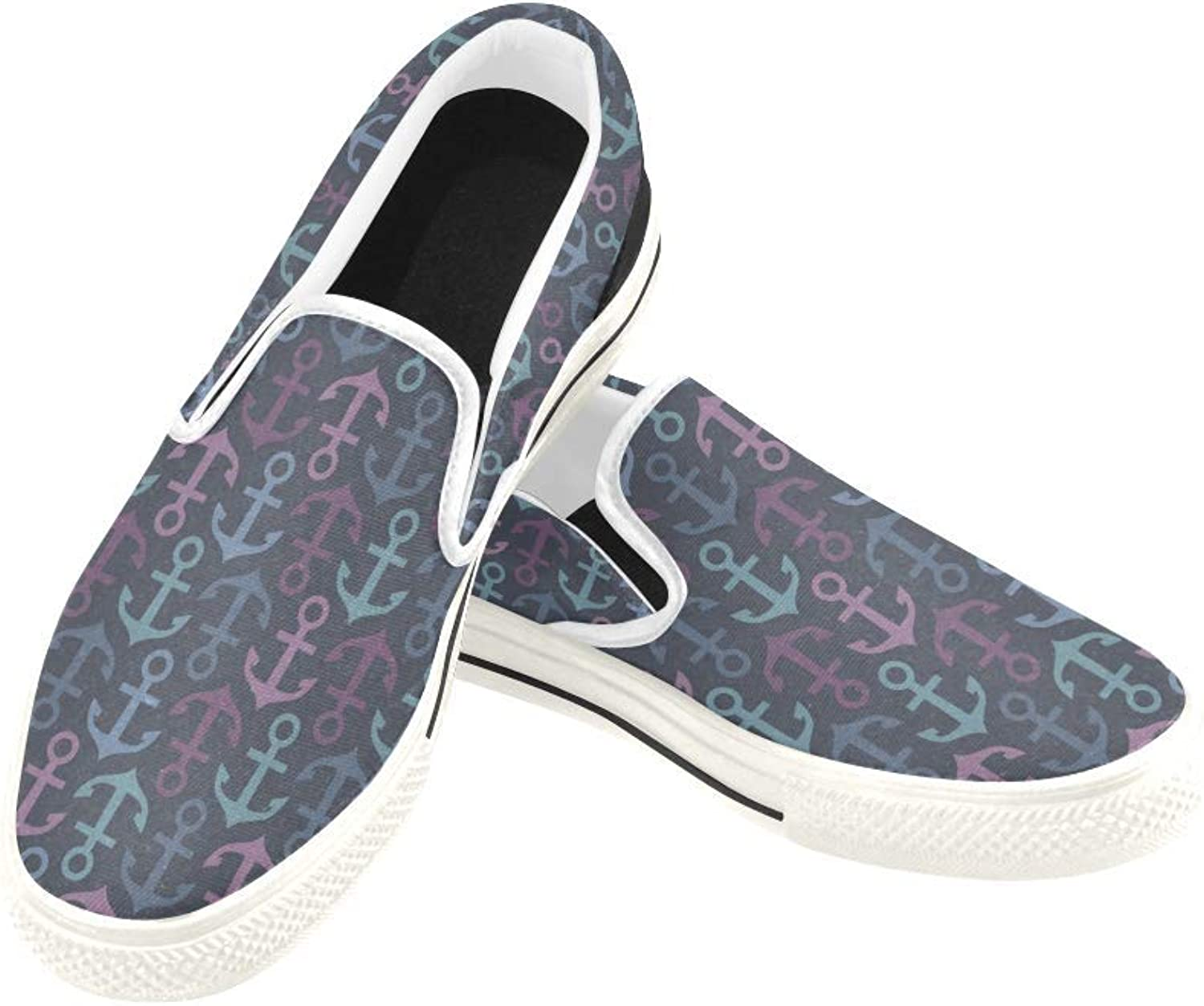 InterestPrint Womens Slip On Canvas shoes Loafers Evil Eyes Girls Classic Casual Sneakers Flats