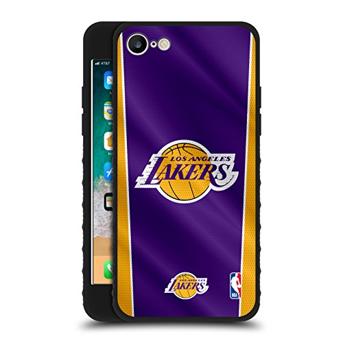 Head Case Designs Ufficiale NBA Banner Los Angeles Lakers Cover Blindata Lite Nera Compatibile con Apple iPhone 7 / iPhone 8 / iPhone SE 2020