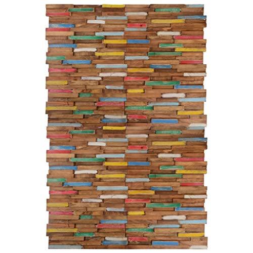 pedkit Paneles de Revestimiento de Pared 20 Unidades Paneles de Acabado de Paredes Decorativas Teca 2 m²