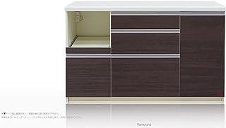 [高さ84.8cm] Pamouna(パモウナ) LFシリーズ LF-1400R キッチンカウンター/下台 (幅140cm, 奥行き50cm, カカオチェリー)