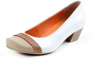 cbb35289980e Amazon.it: decollete donna bianche - 1 - 3 cm / Scarpe col tacco ...