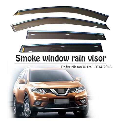 WRDD Windabweiser Für Nissan X-Trail T32 2014 2015 2016 2017 2018 Fenster Regen Visor Venor Sonne Deflectors Wachenzubehör Autofenster Regenschutz