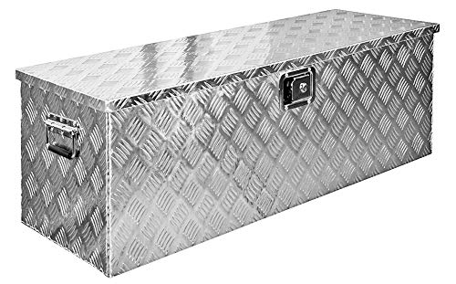 Truckbox Box Werkzeugkiste Anhängerbox Deichselbox 15 Größen Alumium Trucky, Modell:D160 (109 x 40 x 38 cm)