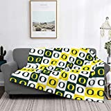 Pilling Resistant Flannel Deluxe University of Oregon Blanket Printed Blankets Super Soft Comfort for All Seasons Available in Three Sizes