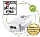 devolo Magic 2 Wifi: Ideal für Home Office und Streaming, Powerline-Ergänzungsadapter mit WLAN-Funktion, bis 2400 Mbit/s, 2x Gigabit LAN-Anschluss, Wifi ac, integrierte Steckdose