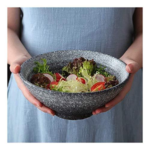 Cuenco de cerámica para utensilios para el hogar, vajilla de cerámica – Tazón de 8/9 pulgadas de Miso Ramen Bowl Retro Creative Home Ensaladera de frutas, tazón de sopa de 22,8 cm (tamaño: 8 pulgadas)