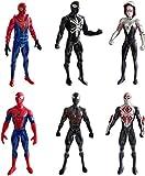 Lalosliv 6pcs Spiders Action Figures - Super Heroes Figures with Accessories  Spiders Super Heroes Set