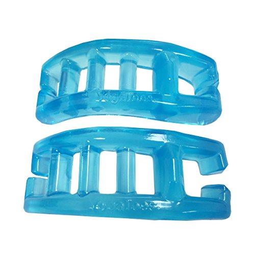 YogaToes - El separador de dedos original de Estados Unidos – azul zafiro/pequeño