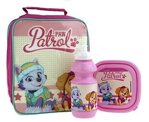 Lora Dora Character Kids Lunchtaschen-Set, 3-teilig, Flasche und Sandwich-Box Gr. Einheitsgröße, Paw Patrol - Pink